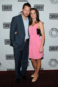 Matthew Humphreys and Cassie Howarth at the Current TV Upfront in New York.