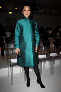 Xu Qing at the Max Mara Spring/Summer 2011 fashion show during the Milan Fashion Week.