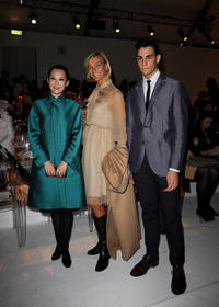 Xu Qing, Nicola Maramotti and Guest at the Max Mara Spring/Summer 2011 fashion show during the Milan Fashion Week.