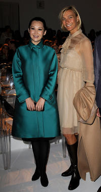 Xu Qing and Nicola Maramotti at the Max Mara Spring/Summer 2011 fashion show during the Milan Fashion Week.