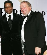Hugh Quarshie and John Sergeant at the Press Association annual awards.