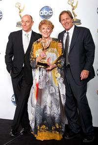 Corbin Bernsen, Jeanne Cooper and Collin Bernsen at the 35th Annual Daytime Emmy Awards.