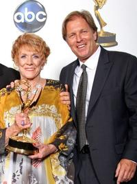 Jeanne Cooper and Collin Bernsen at the 35th Annual Daytime Emmy Awards.