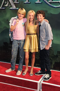 Spencer List, Peyton R. List and Jake Cherry at the New York premiere of