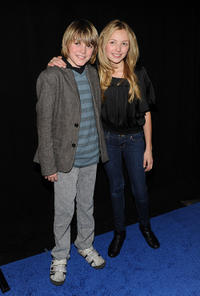 Spencer List and Peyton R. List at the New York premiere of