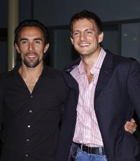 Francesco Quinn and Nick Irons at the premiere of