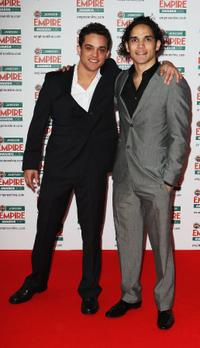 Reece Ritchie and Guest at the Jameson Empire Film Awards.