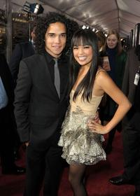 Reece Ritchie and Nikki Soohoo at the premiere of