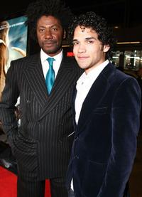 Joel Virgel and Reece Ritchie at the premiere of
