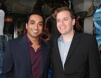 Manu Narayan and director Marco Schnabel at the premiere of