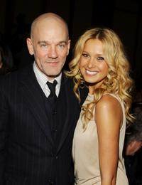 R.E.M. and Petra Nemcova at the cocktail reception for the Food Bank For New York's 5th Annual Can-Do-Awards.