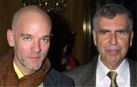 R.E.M. and Gerald M. Levin at the after party of