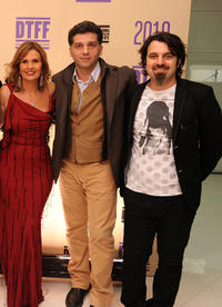 Yosra, director Danis Tanovic and Scandar Copti at the 2010 Doha Tribeca Film Festival.