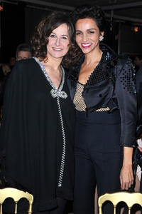 Valerie Lemercier and Farida Khelfa at the Sidaction Gala Dinner 2011.