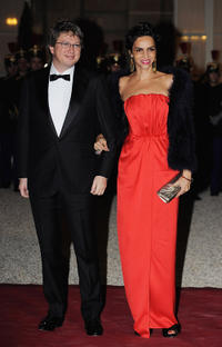 Henri Seydoux and Farida Khelfa at the State Dinner in Paris.