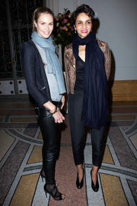 Elle MacPherson and Farida Khelfa at the Yves Saint Laurent Exhibition in Paris.
