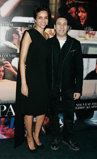 Farida Khelfa and Zinedine Soualem at the premiere of