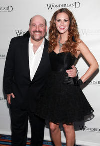 Frank Wildhorn and Toni Busker at the Broadway opening night of
