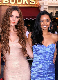 Toni Busker and Sanya Hughes at the California premiere of