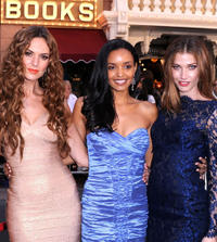 Toni Busker, Sanya Hughes and Jorgelina Airaldi at the California premiere of