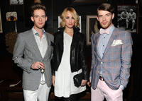 Luke Treadway, Ruta Gedmintas and Harry Treadway at the Tommy Hilfiger Fall 2011 Men's Collection in New York.