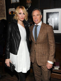 Ruta Gedmintas and designer Tommy Hilfiger at the Tommy Hilfiger Fall 2011 Men's Collection in New York.