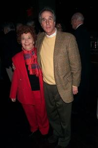 Charlotte Rae and Henry Winkler at the opening night party of