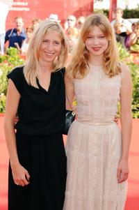Director Jessica Hausner and Lea Seydoux at the 66th Venice Film Festival.