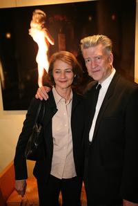 Charlotte Rampling and David Lynch at the Christian Louboutin/David Lynch cocktail party.