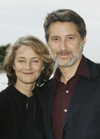 Charlotte Rampling and Antoine De Caunes at the sceening of