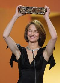 Charlotte Rampling at the ceremony of trophy awarding for the French cinema.