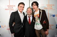 Jesse McCartney, Bryan Goluboff and Ezra Miller at the premiere of
