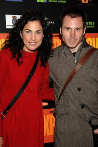 Toni Acosta and Ruben Ochandiano at the Madrid premiere of