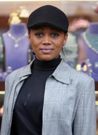 Theresa Randle at the opening of the Luxury Jewels of Beverly Hills.