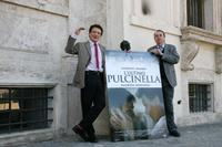 Massimo Ranieri and Director Maurizio Scaparro at the photocall of