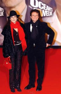 Massimo Ranieri and his wife at the European premiere of