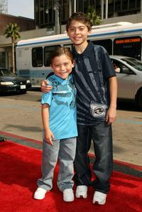 Raymond Ochoa and Ryan Ochoa at the premiere of