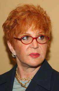 Sally Jessy Raphael at the press conference in New York City.