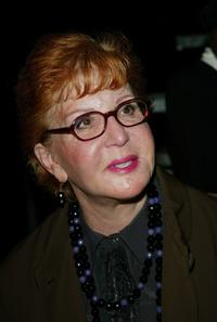 Sally Jessy Raphael at the Marc Jacobs Fall/Winter 2003 Collection fashion show during the Mercedes-Benz Fashion Week.