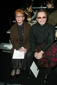Sally Jessy Raphael and her husband Karl Soderland at the Marc Jacobs Fall/Winter 2003 Collection fashion show during the Mercedes-Benz Fashion Week.