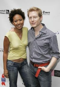 Anthony Rapp and Tracie Thoms at the 19th Annual Broadway Flea Market & Grand Auction.