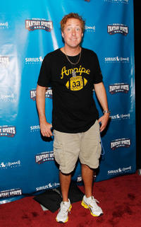 Scott Ferrall at the SIRIUS XM Radio Celebrity Fantasy Football Draft-Times Square in New York.