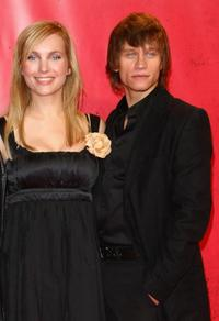 Nadja Uhl and Vinzenz Kiefer at the Berlin premiere of