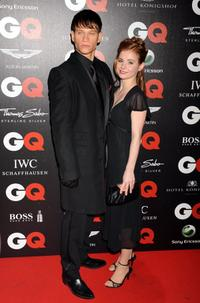 Vinzenz Kiefer and Josefine Preuss at the 2008 GQ Men of the Year Awards.