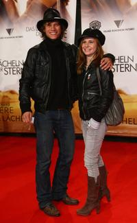 Vinzenz Kiefer and Josefine Preuss at the German premiere of
