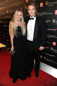 Veronica Dunne and Freddie Stroma at the red carpet of BAFTA Los Angeles 2010 Britannia Awards in California.