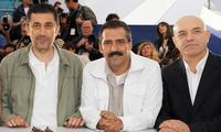 Director Nuri Bilge Ceylan, Yavuz Bingol and Ercan Kesal at the photocall of