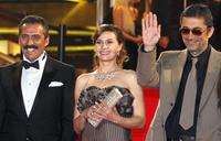 Yavuz Bingol, Hatice Aslan and Nuri Bilge Ceylan at the screening of
