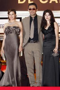 Hatice Aslan, Nuri Bilge Ceylan and Ebru Ceylan at the screening of