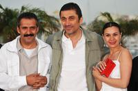 Yavuz Bingol, Director Nuri Bilge Ceylan and Hatice Aslan at the photocall of